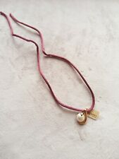 Majorica Pearl Pendant Chocker Satin Necklace. Hall marked 925