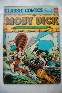 CLASSICS ILLUSTRATED COMICS #5 MOBY DICK HRN 20 SUNRISE TIMES FN-