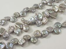 10-12mm High Luster Mauve Gray Top Drilled Keishi Paddle Freshwater Pearl (#340)