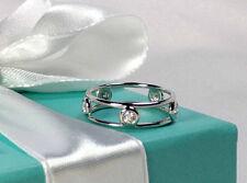 NEW Tiffany & Co. Elsa Peretti Double Wire Ring Size 5.5 Platinum Diamond PT 950