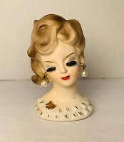 Vintage Napcoware Lady Head Vase CF6200 - Excellent Condition. Napco + Bonus