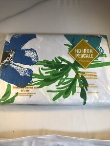 no iron percale vintage double flat sheet seconds open package Floral