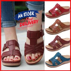 Women Premium Orthopedic Open Toe Sandals Vintage Anti-slip Breathable Summer AU
