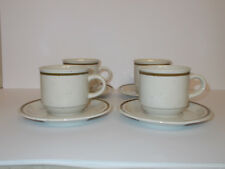 4 x Rayware Coffee Cups and Saucers Speckle Effect Lovely