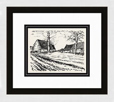 "1958 VLAMINCK Original Limited Edition Lithograph ""Challonges"" SIGNED Framed COA"