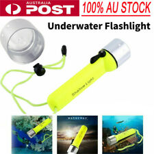 Waterproof 8000lm LED Diving Flashlight Scuba Torch Light Lamp AU Stock HG