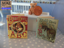 ABC vintage reprodution miniatures  Two Illustrated books 1/12