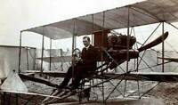 OLD PHOTO Early Aviation Mr Travers In His Paulhan Curtis Waterplane Eastbourne