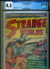 STRANGE WORLDS 9 CGC 4.5 o.w. (Classic Avon sci-fi / Headlights cover ! )