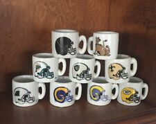 LOT OF 8 MINIATURE CERAMIC FOOTBALL COLLECTOR MUGS AND 1 SCOOBY DOO