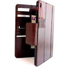 Genuine Leather Hard case fit apple iPad PRO 9.7 Slim brown Credit Cards Slots R