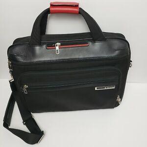 Samsonite Black Label Bag Laptop Carrying Case Executive Briefcase Red $550