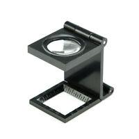 8X Optical Lens Stand Magnifier Folding Magnifying Glass  Linen Tester