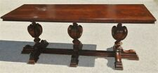 Massive Vintage American Walnut 1920s-1930s  Console Table