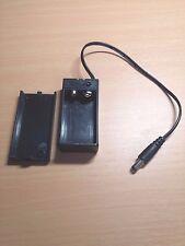 Batterie 9 V PP3 Boîte avec fil de plomb et interrupteur on/off + DC 2.1 mm Plug