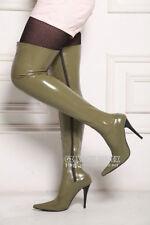 Unisex spike heel latex thigh high bounced latex boots EU39-44 Preorder