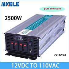 2500W DC12V to AC110V Off Grid Pure Sine Wave Solar Power Inverter LED Display
