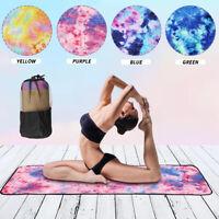 Pilates Mat Cover Yoga Towel Blanket Non-Slip Soft Travel Sport  Mesh Carry Bag