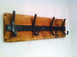 Wall Mounted Coat Rack 1m x 8 hooks version