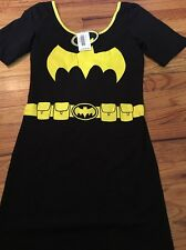 NWT DC Comics Batman Costume Dress Bodycon Cosplay Tunic Juniors Size Large