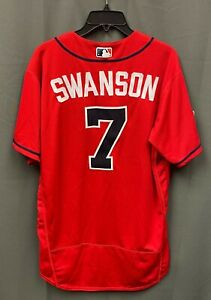 Dansby Swanson 2019 Postseason Game Used Braves #7 Jersey Size 46 MLB Hologram