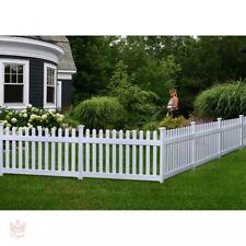 Portable Dog Fence Outdoor Pet White Vinyl Gate No Dig Corner Semi Permanent NEW