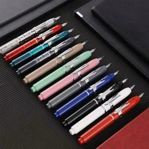 Push Fountain Pen Ink Fillable Universal Writing Pen EF Nibs