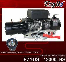 EzyUs 12V 12000LBS(5450KGS) Electric Winch 24M Synthetic Rope 4x4 ATV Boat Truck