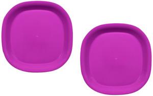 "Purple Microwave Safe Kids Plates 2 Pack 7.5"" Microwavable & Dishwasher Safe"