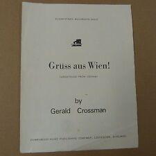 accordion G. CROSSMAN gruess aus wien ! greetings from vienna ! elementary grade