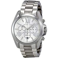 New Michael Kors MK5535 Bradshaw Silver Chronograph Designer Watch - UK Seller