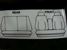 ARTIFICIAL SHEEPSKIN SEAT COVER,6 SEATER FORD EA,ED-EL