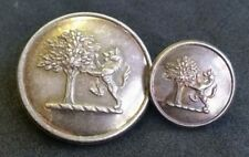 Livery Button to Unknown Family. Double Crest Tree Lion Rampant 26.5mm & 15.5mm