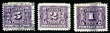 CANADA 1906-35 SCOTT J1 J2 J4 J6 J7 J8 J13 J15-J17 J20 POSTAGE DUE STAMPS
