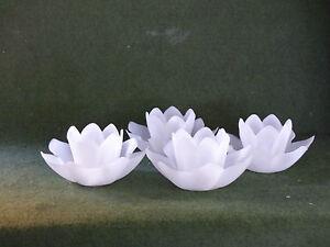 Schwimmkerze, Seerose mit Teelicht 4er Set  Farbe weiß