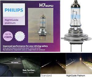Philips Night Guide Platinum H7 55W Two Bulbs Head Light High Beam Upgrade Lamp