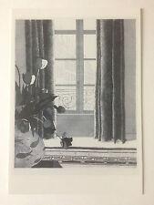 "David HOCKNEY, ""rue de Seine"" artista carta promozionale,"