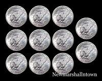 1979 1980 1981 1999 P+D+S Susan B Anthony ~ SBA ~ Dollars BU Mint Set Lot of 11