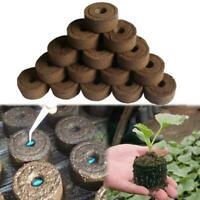 10Pcs Jiffy Peat Pellets Seed Starter Plug Pallet Seedling Soil Nursery Block UK