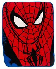 NEW SPIDERMAN PREMIUM DESIGN IDENTITY PANEL BLANKET BOYS FLEECE KIDS THROW GIFT