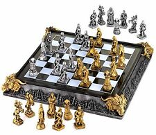 LEGENDARY MEDIEVAL CHESS SET ** Mystical Knights & Dragons ** NIB