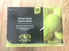 Nib 36 Count Athletic Works Pressurized 12 Can Tennis Balls (36 tennis balls)
