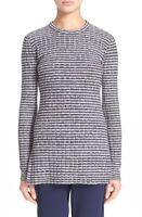 * NWT Theory Belira Evian Stretch Tunic Sweater, Navy/Ivory Ice $335