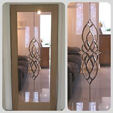 Beveled Glass Internal Shaker Door (Oak)
