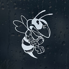 Funny Cartoon Attacking Bee Car Decal Vinyl Sticker For Window Or Bumper Panel