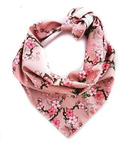 Cherry Blossom Floral Puppy /  Dog Bandana - Handmade