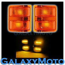 2008-2015 Super Duty Side Mirror Turn Lights AMBER LED+Lens Replacement Kit Set