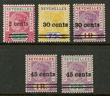 Seychelles  1902  Scott # 33-37  Mint Lightly Hinged to Hinged Set