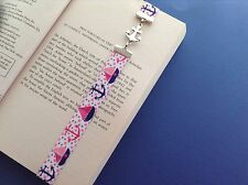 ELASTIC NAUTICAL BOAT DESIGN ANCHOR CONNECTOR CHARM PAGE KEEPER BOOKMARK
