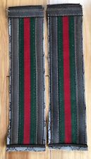 2 Authentic Gucci Green Red Web Stripes, bag parts for project